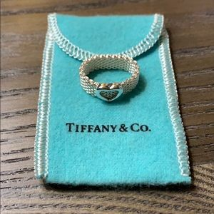 Tiffany & Co. Heart Mesh Ring